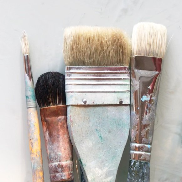 Paintbrush care and cleaning posters