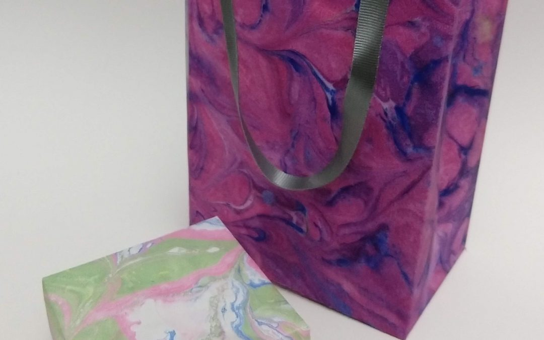 Paper Marbling, Origami Box and Bag